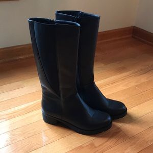 Other - Girls tall black boots faux leather size 5